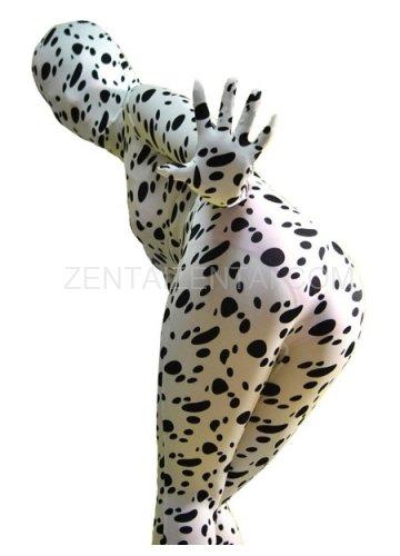 Fullbody Full Body Dalmatian Print Spandex  Morph Zentai Suit