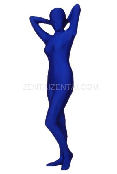 Navy Lycra Spandex Morph Zentai Suit