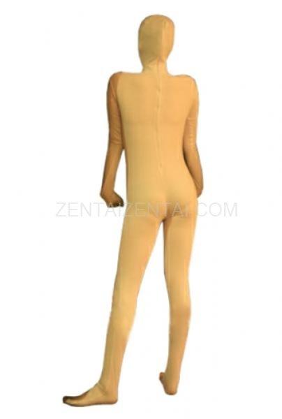 Unusual Yellow Lycra Spandex Unisex Morph Zentai Suit