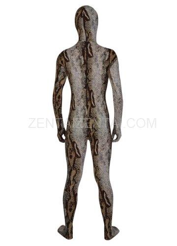 Mature Brown Camouflage Lycra Spandex Male  Unisex Morph Zentai