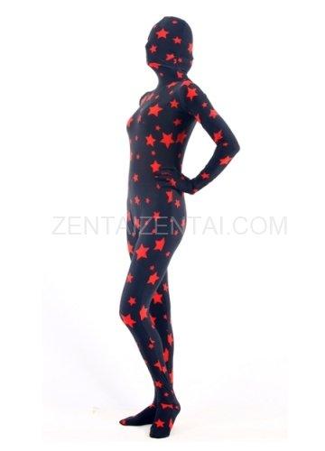 Red Star Lycra Spandex Unisex Morph Zentai Suit