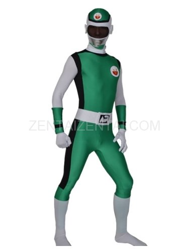 Green Lycra Men\'s Morph Zentai Suit