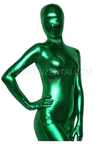 Green Shiny Metallic Morph Zentai Suit