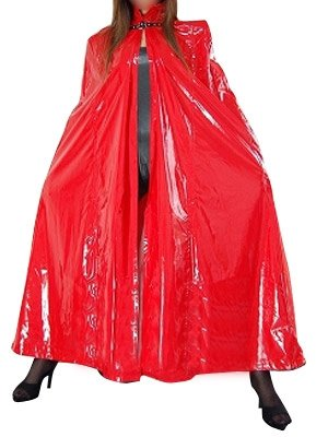 Cool Red PVC Cape