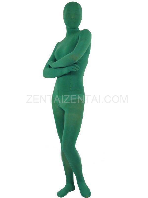 Dark Green Velvet Unisex Morph Zentai Suit
