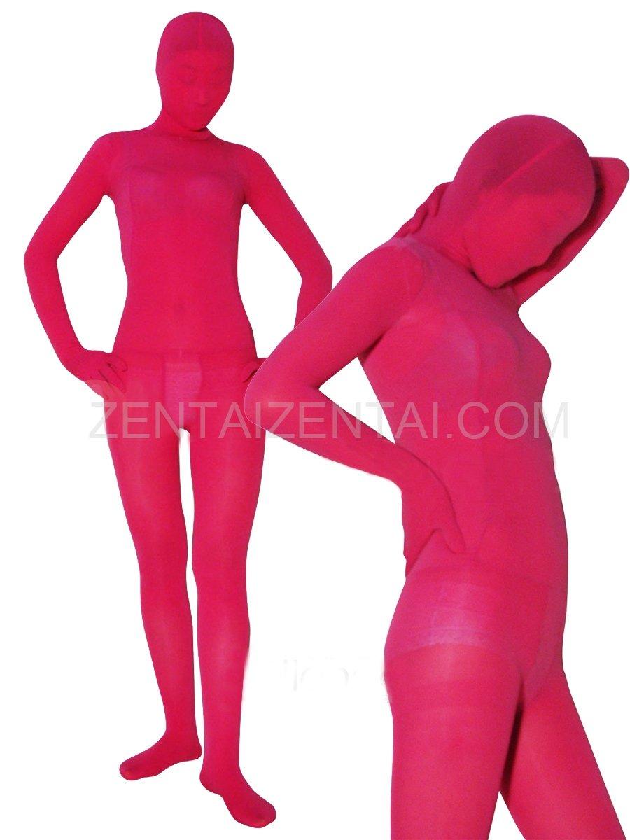 Popular Red Plum Velvet Unisex Morph Zentai Suit