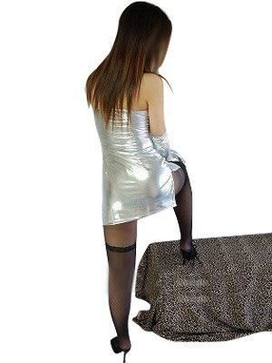 Cool Silver Shiny Metallic Sexy Dress