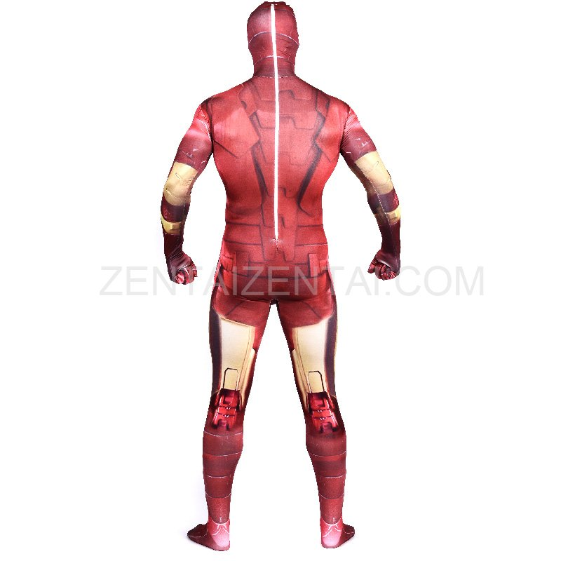 Iron Man Full Body Halloween Spandex Holiday Unisex ...