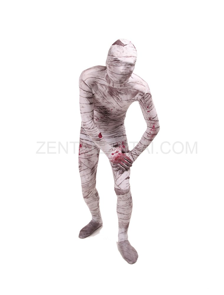 Mummy Full Body Halloween Spandex Holiday Unisex Cosplay Zentai Suit