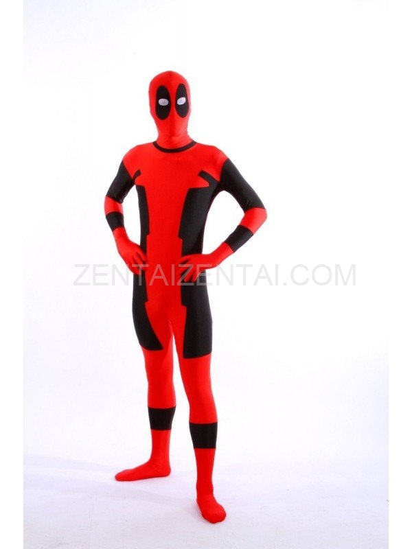 2016 Dealpool Halloween Party Costume Spandex Deadpool Costumes