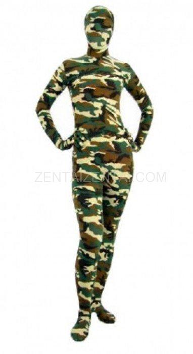 Fullbody Full Body Desert Camouflage Pattern Morph Zentai suit