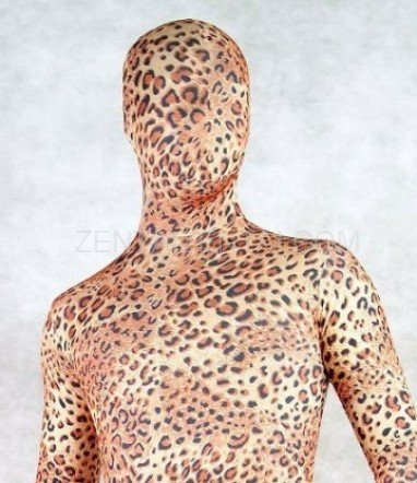 Fullbody Full Body Spotted Panther Spandex Morph Zentai Suit