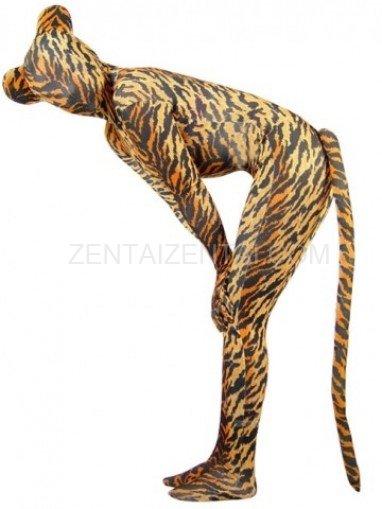 Fullbody Full Body Tiger Pattern Spandex Morph Zentai Suit