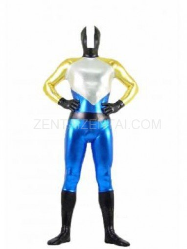 Four-Color Shiny Metallic Unisex Morph Zentai Suit