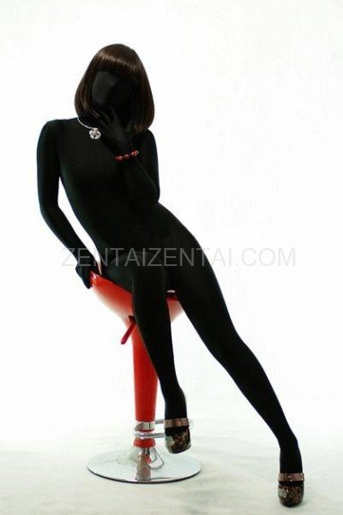 Black Lycra Spandex Unisex Morph Zentai Suit