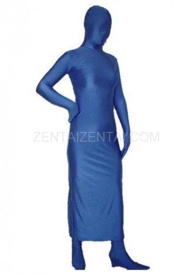 Blue Lycra Spandex Morph Zentai Suit