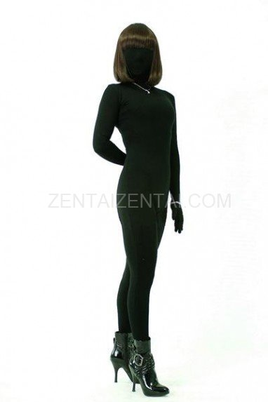 Cool Superior Classic Black Lycra Spandex Unisex Morph Zentai Suit