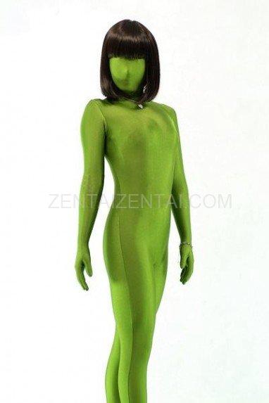Top Unicolor Fullbody Full Body Army Green Lycra Spandex Unisex Morph Zentai Suit