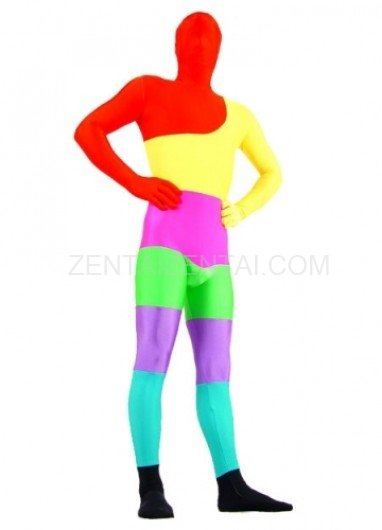 Colorful Lycra Spandex Morph Zentai Suit