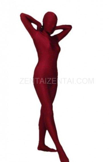 Crimson Lycra Spandex Morph Zentai Suit