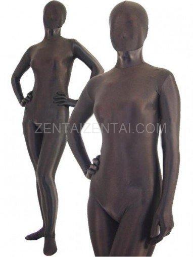 Dark Brown Lycra Spandex Unisex Morph Zentai Suit