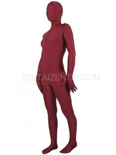 Deep Red Lycra Spandex Unisex Morph Zentai Suit