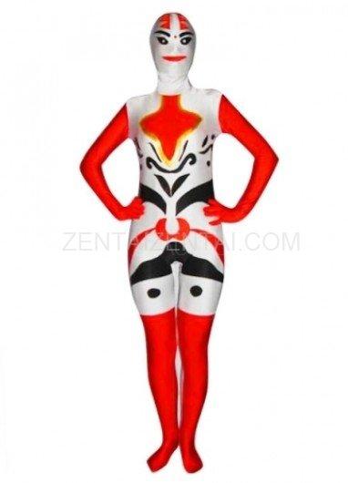 Multicolor Lycra Spandex  Unisex Morph Zentai Suit