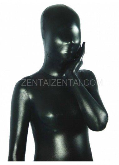 Black Shiny Metallic Unisex Morph Zentai Suit