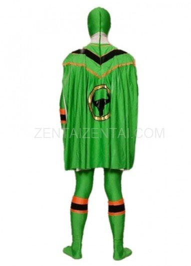 Green Lycra Spandex Super Hero Morph Zentai Suit