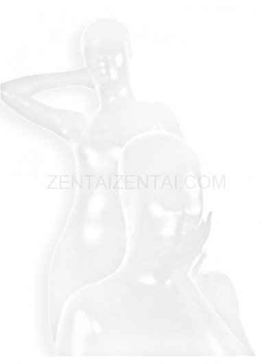 Suitable White Shiny Metallic Unisex Morph Zentai Suit