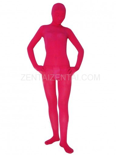 Popular Red Plum Velvet Unisex Morph Zentai Suit