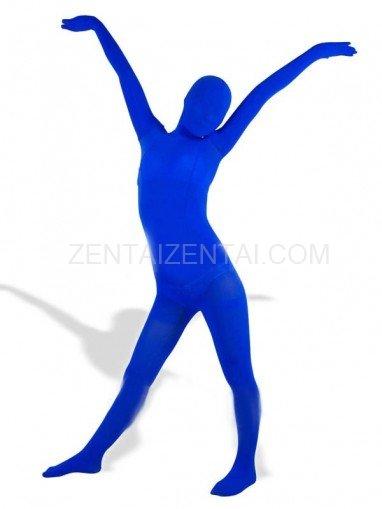 Royal Blue Velour Unisex Morph Zentai Suit