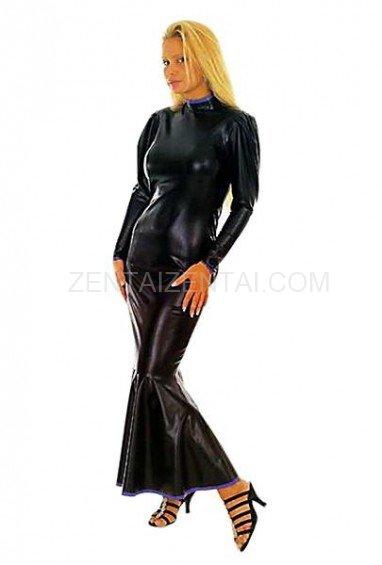 Black Mermaid PVC Dress