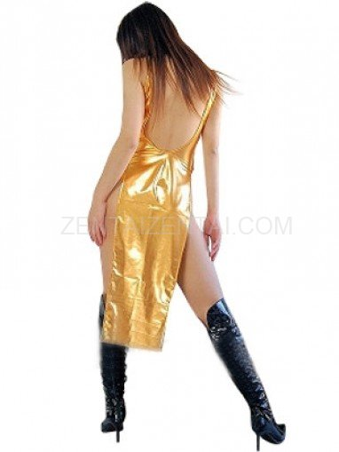Perfect Gold Shiny Metallic Sexy Dress