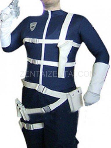Blue Thor Super Hero Shiny Metallic Costume