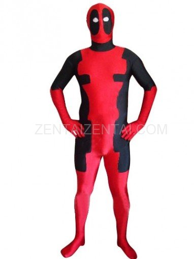 Deadpool Lycra Super Hero Costume