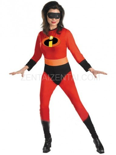 Red Elastigirl Helen Parr Lycra Super Hero Costume