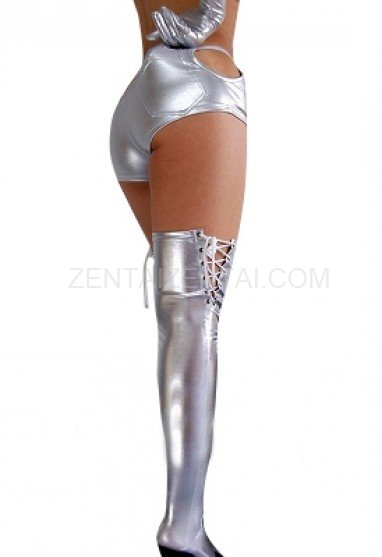 Silver Shiny Metallic Sexy Bottom