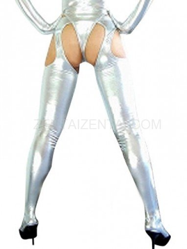Silver Shiny Metallic Sexy Bumbum Costume (G-String&Bumbum Trousers)