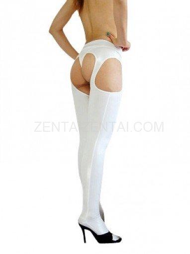 White Shiny Metallic Sexy Shorts