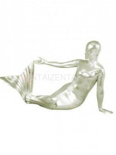 Sliver Shiny Metallic Unisex Morph Zentai Suit