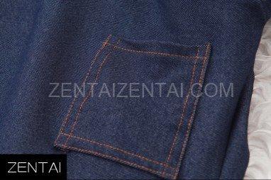 Elastic Stretch Denim Blue Jeans Fashion Morph Zentai Catsuit Tights