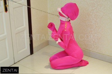 Fullbody Full Body Tights Red Fluorescence Pink Shoulder Hit Color Rivet Morph Zentai Suit Morph Suits