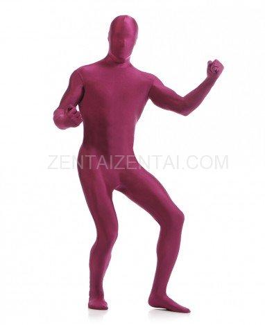 Burgundy Red Wine Color Full Body Spandex Holiday Unisex Velvet Morph Zentai Suit