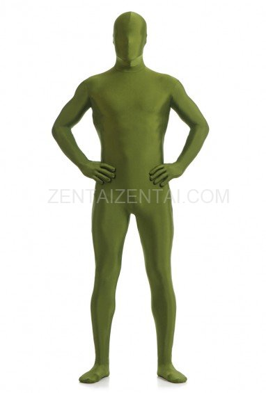 Deep Green Olive Green Full Body Spandex Holiday Unisex Lycra Morph Zentai Suit