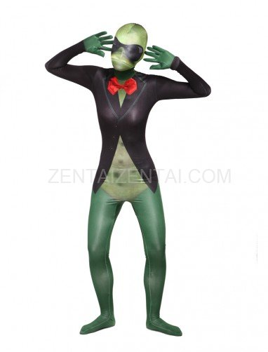 Green Sir Frog Full Body Halloween Spandex Holiday Unisex Cosplay Zentai Suit
