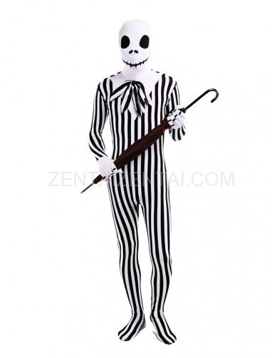 Lovely Skull Full Body Halloween Spandex Holiday Unisex Cosplay Zentai Suit
