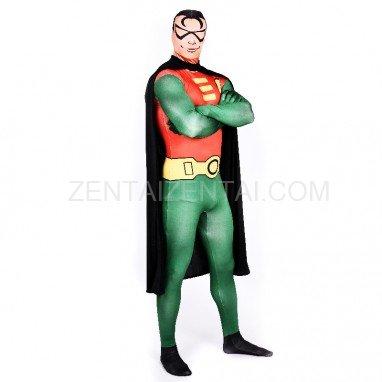 Robin Batman Full Body Halloween Spandex Holiday Unisex Cosplay Zentai Suit