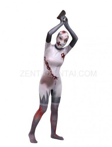 Scary Body Halloween Spandex Holiday Unisex Cosplay Zentai Suit