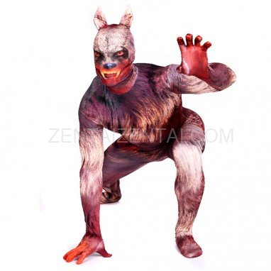 Werewolf Full Body Halloween Spandex Holiday Unisex Cosplay Zentai Suit